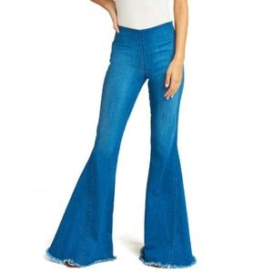 Show Me Your MuMu Berkeley Bell Flare Jeans -Ocean